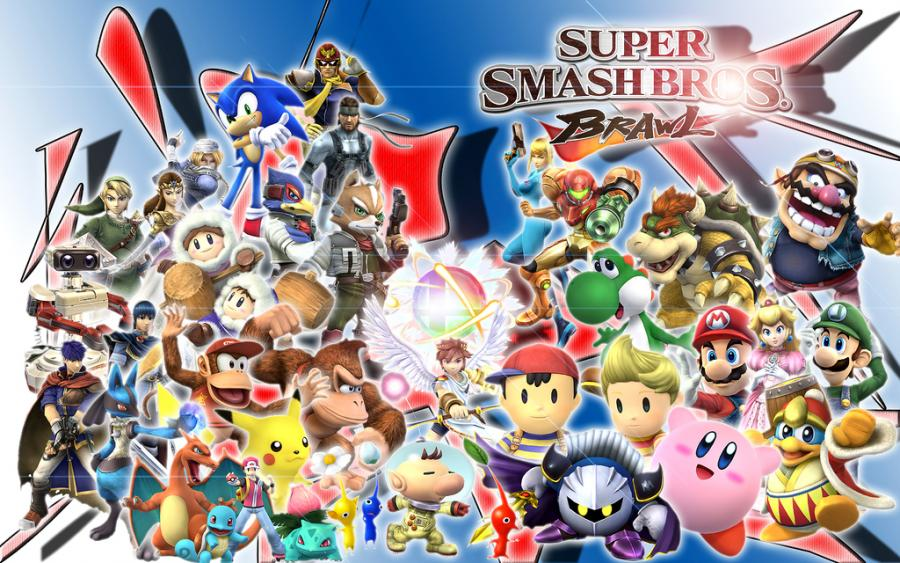 super smash bros wallpaper. de super smash bros brawl