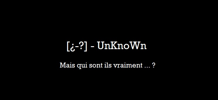 [¿-?] - unknown Index du Forum