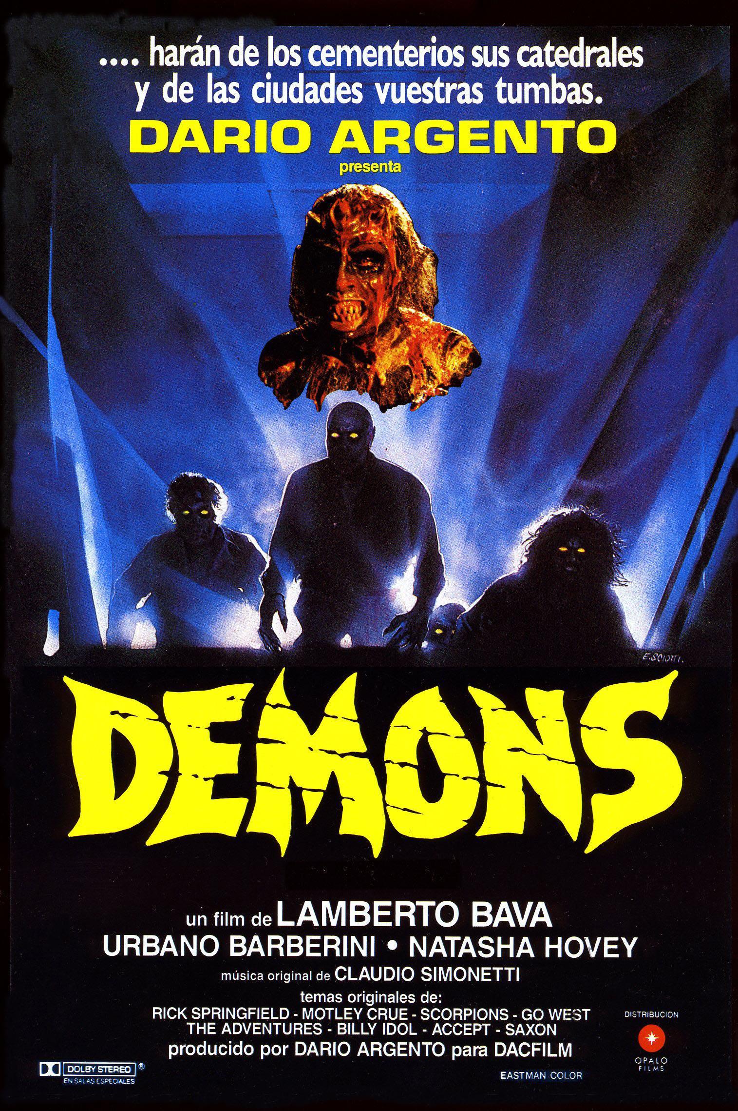 Cartel de la pelicula Demons