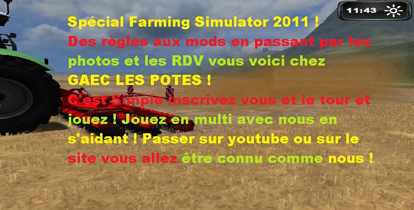 Farming Simulator 2011 Index du Forum